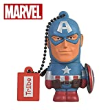 Chiavetta USB 16 GB Captain America - Memoria Flash Drive 2.0 Originale Marvel Avengers, T...