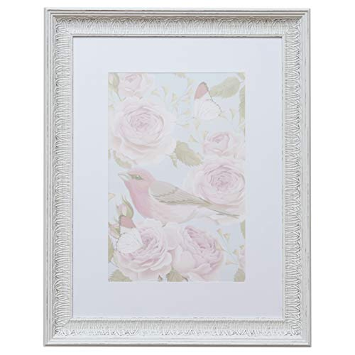 18x24 Picture Frame Distressed White - Matted for 12x18 Poster, Frames by EcoHome