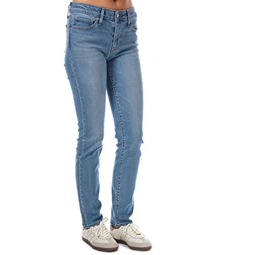 Levi's 712 Mid Rise Slim, Damen Damen Jeans Hose Stretchdenim Blue Stone W 32 L 30 [22461]
