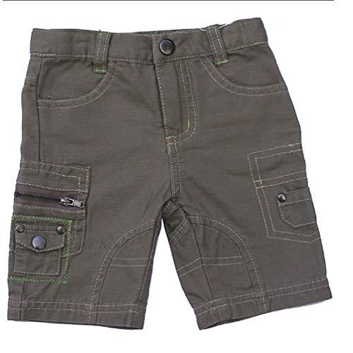 Ding Dong Jungen Skaterhose/Shorts Baustelle grau-braun Größe: 68