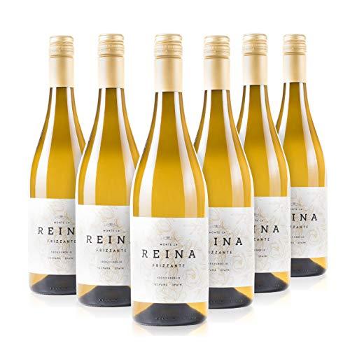 Vino Frizzante, vino blanco verdejo - Tempranillo- Con un Sabor Suave, Agradable y Vivo I Espumoso – Semidulce - VINO FRIZZANTE REINA (CAJA 6 BT BLANCO)