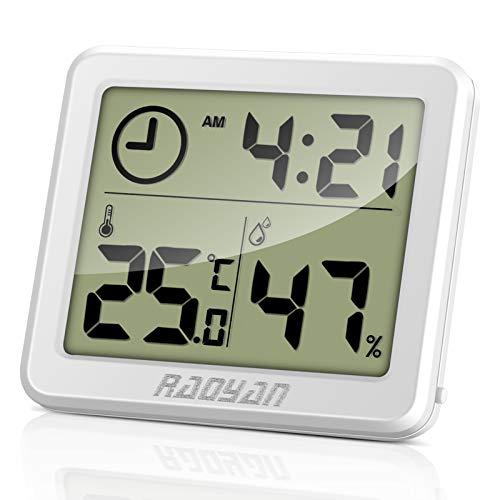 RAOYAN Thermometer Hygrometer, Thermometer Innen mit Hohen Genauigkeit Temeo Hygro Indicator zum Aufstellen oder zur mit Raumklima-Indikator