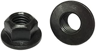 Integrated Washer to Help Spread Clamp Load Thread Locking for Vibration Resistance Black Phosphate Finish for Corrosion Protection Pack of 50 7//16-14 GILLIEM Top Lock Flange Nuts