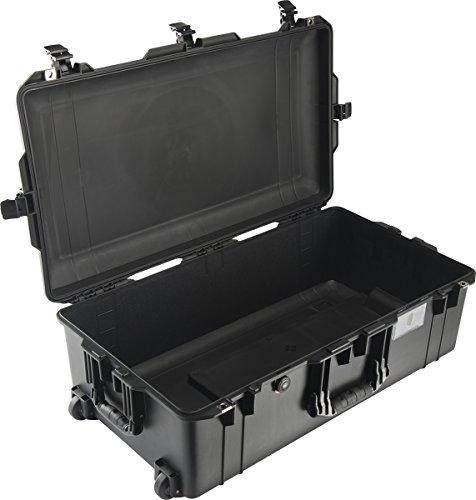 PELI 1615 Air Maleta Trolley Ultra Resistente y Ligera para cámaras y Sistemas ópticos, estanca e Impermeable al Polvo, 71L de Capacidad, Fabricada en EE.UU, sin Espuma, Color Negro