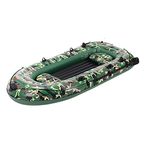 Kayak Inflable, Juego De Bote Inflable De 10 Pies 2/3/4 Personas con Paletas Bomba De Aire Juego De Bote De Canoa para Kayak De PVC, Bote A La Deriva Plegable Y Resistente Al Desgarro Engrosado