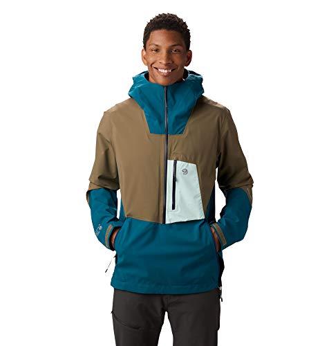 Mountain Hardwear Men's Exposure/2 Gore-TEX Paclite Stretch Pullover, Dive - XL
