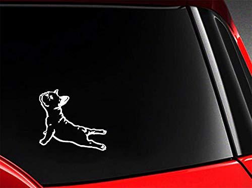 Pegatinas 3D De Pared Etiqueta Engomada Divertida Bulldog Frances Car Styling...