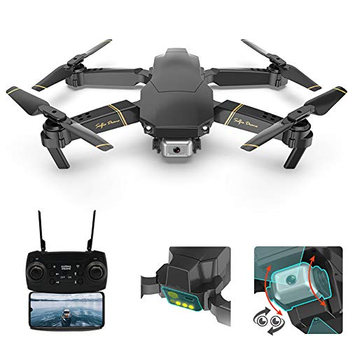 Adsvtech FPV Mini Drone with Camera for Adults, 1080P HD Dual Cameras, WiFi RC Quadcopter Helicopter APP Smart Controller, Gesture Photo/Video, Altitude Hold, 3D Flip RTF VR Headset