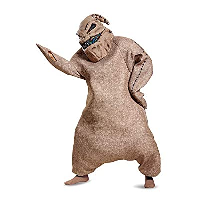 Disguise Men's Oogie Boogie Prestige Adult Costume, Brown, XL (42-46) by Disguise Costumes