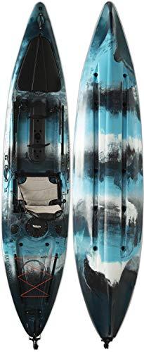 Vanhunks Boarding Black Bass 13ft Single Fishing Kayak (Blue/White/Black)