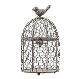 Jaula para Mascota Jaula de pájaros retro Adornos de hierro antiguos Muebles de sala de estar Home Regalos de tejido Artesanías creativas adecuadas para disparos Jaula para Pájaros ( Color : B )