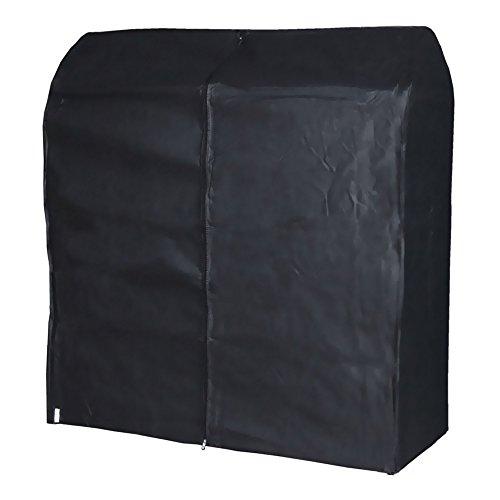 Hangerworld Funda 121cm para Perchero Cubierta para Burro Transpirable Negro Antipolvo con Cremallera