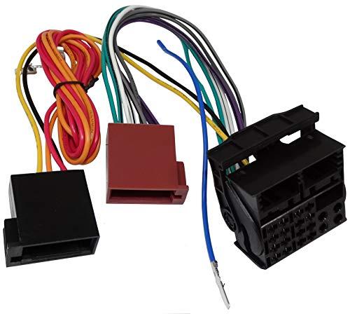 AERZETIX: Adattatore cavo connettore spina ISO per autoradio. Permette di consente collegare un ricevitore standard al posto del sistema audio originale C11899