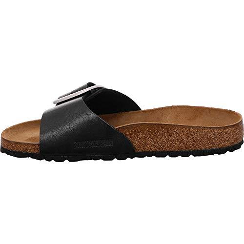 BIRKENSTOCK Damen Madrid Big Buckle Sandale, schwarz, 39 EU