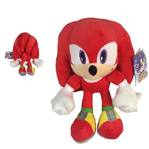 Sonic - Peluche Knuckles The Echidna 11'40 '/ 29cm Colore Rosso qualità Super Soft
