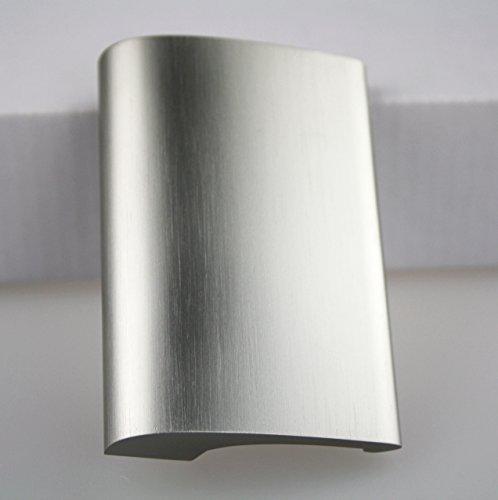Balkongriff Ziehgriff Terrassentürgriff Deluxe - Aluminium - verschiedene Farbe (Edelstahl eloxiert)