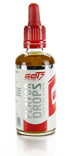 Got7 Flavor Drops - Kalorienfreies Aroma für Lebensmittel und Getränke - Perfekt zum Abnehmen (Lemon Cake-Zitronenkuchen, 50ml)