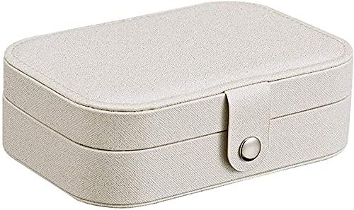 OH Joyería de Mujer Caja de Alenamiento de Cosméticos Caja de Viaje Portátil Caja de Joyería Anillo Collar de Joyería Caja de Alenamiento Accesorio de Viaje Portátil/Blanco