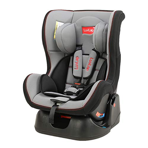 LuvLap Sports Convertible Car Seat for Baby & kids from 0 Months to 4 Years (Grey & Black)