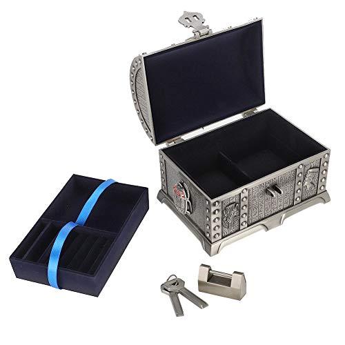 Qkiss Vintage sieraden opbergdoos, sieradenhouder geval met slot