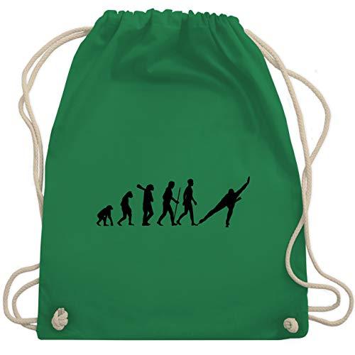 Shirtracer Evolution - Eisschnelllauf Evolution - Unisize - Grün - schlittschuhe tasche - WM110 - Turnbeutel und Stoffbeutel aus Baumwolle