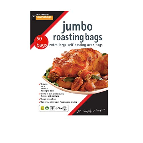 Toastabags Jumbo Bräter Taschen, transparent, 55x 60cm (50 Stück)