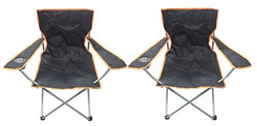 Nalu Folding Camping Chair, Lightweight, Foldable, Portable Garden Beach Seat (2 Pack)