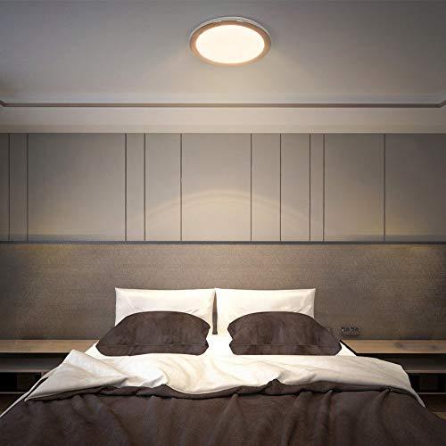 PADMA Modern LED Deckenleuchte für Badezimmer Warmweiß Rund Ip44 Wasserdicht Deckenlampe Küche 15W 1200 Lumen