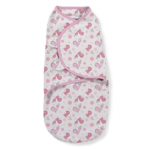 SwaddleMe 56536 Original Pucksack, groß (4-6 Monate), Tweet, rosa