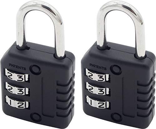 オーディオファン ダイヤル式 可変式南京錠 3桁 小型 2点セット