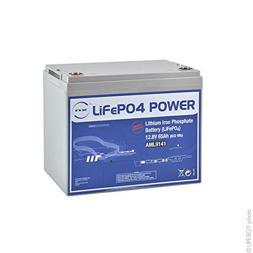 NX - Batterie lithium fer phosphate UN38.3 12V 65Ah M8