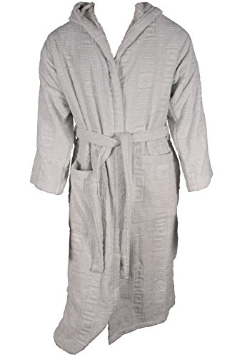 Versace Greek Key Bademantel Bathrobe Accappatoio Peignoir Albornoz Größe M 17029