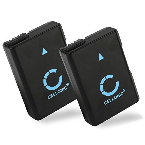 CELLONIC 2X Batería Premium Compatible con Nikon D5600 D5500 D5300 D5200 D5100 D3500 D3400 D3300 D3200 D3100 DF CoolPix P7800 P7700 P7100 P7000, 1050mAh EN-EL14 EN-EL14a Pila Repuesto reemplazo