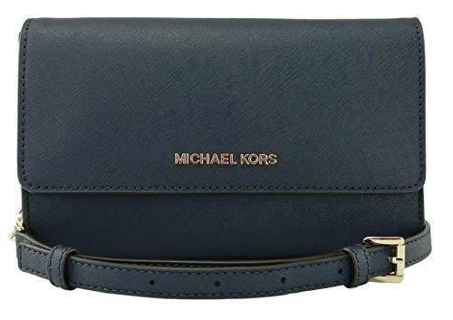MICHAEL Michael Kors Saffiano Leather 3-in-1 Crossbody Clutch - Navy