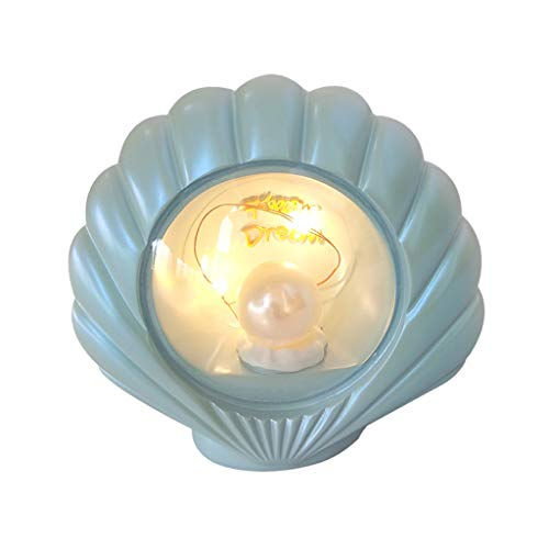 Schöne Muschel Nachtlicht Nachttischlampe Tischlampe Stimmungslicht für Kinder Babys - Blau