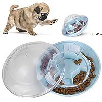 フードディスペンサーボール、ペットの飼い主のためのペット用のABS素材を使用した実用的な犬のスローイーティングボール(青)