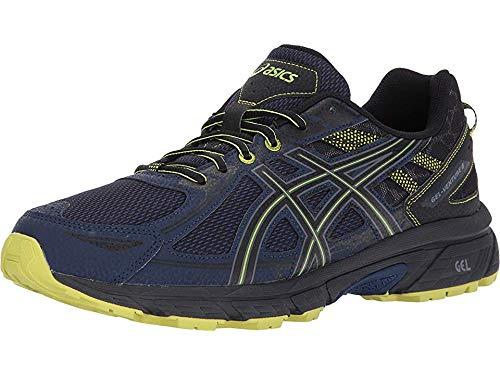 ASICS Men's Gel-Venture 6 Running Shoe, Indigo Blue/Black/Energy Green, 9.5 M US