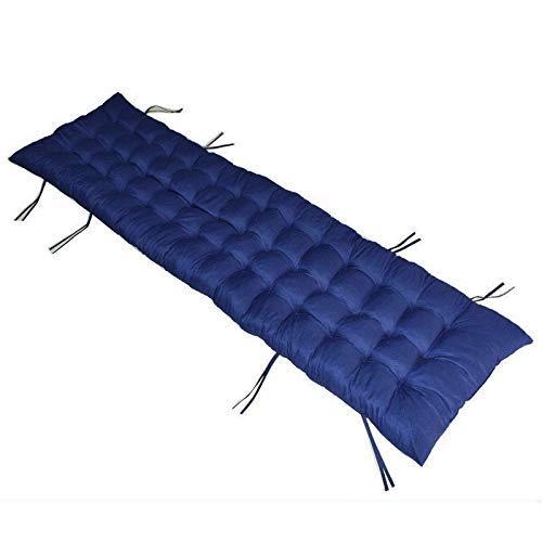 FCXBQ Baumwoll-Patio-Kissen mit hoher Rückenlehne, Dickes Garten-Sesselkissen Innen-Patio-Chaiselongue-Kissen für Patio-Chaiselongue-blau 175 x 48 x 8 cm (69 x 19 x 3 Zoll)