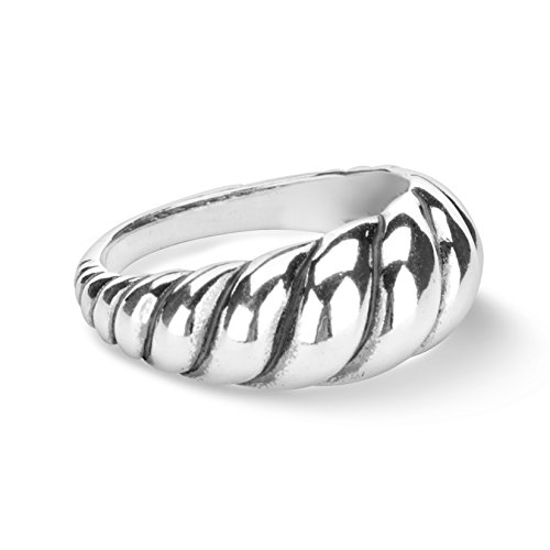 Carolyn Pollack Sterling Silver Smooth Rope Ring,Size 10