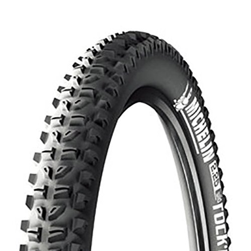Michelin Wild Rock'R Reinforced , Pneu VTT, Tringle Souple, Tubeless Ready, Noir, 26 x 2,40