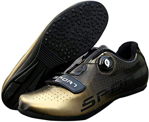 KUXUAN Calzado de Ciclismo - Bicicleta de Montaña de Carretera Profesional para Hombres y Mujeres Calzado de Bicicleta con Fondo de Goma Transpirable y Resistente Al Desgaste Sin Candados,B-40