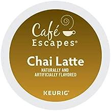 Cafe Escapes, Chai Latte Tea Beverage, Single-Serve Keurig K-Cup Pods, 48 Count (2 Boxes of 24 Pods)