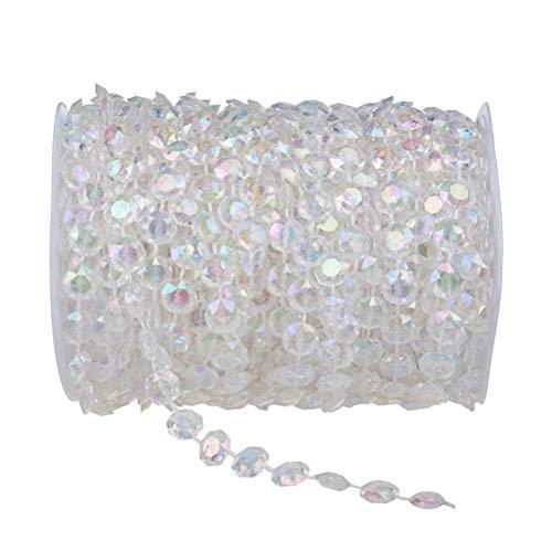 30 M acryl kunststof kristal heldere kralen string voor opknoping gordijn deur kerst bruiloft DIY ambachten partij huisdecoratie, kleurrijk