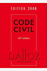 Code civil 2008 - 107e éd. Relié