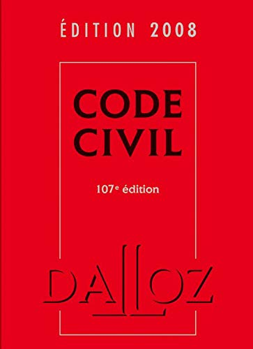 Code civil 2008 - 107e éd.