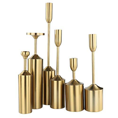 Metallisch Geplatzte Kerzenständer Nach Hause Dekoration Verschiedene Größen Von Schmiedeeisernen Sechs Teiligen