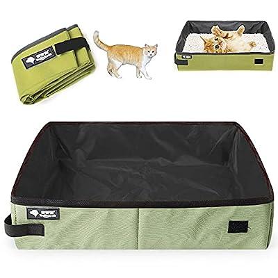 Cat Litter Box Foldable,Cat Travel Toilet, Cat Litter Box Portable, Ketty Litter Pan. (One Size)