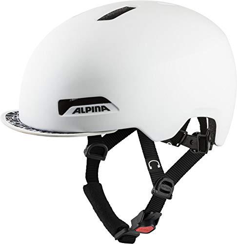 Alpina Unisex's BROOKLYN Helmet, Pearl White matt, 52-57 cm