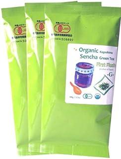 Organic Japanese Sencha loose green tea G - First Flush from Kagoshima 100g (3.52oz) x 3 pack
