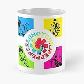 Tissue Scar Peppers Stylish Anthony Keidis Cool Band Original Flea Chilli Hot Red Taza de café con Leche 11 oz